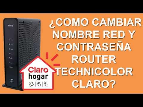 Como Cambiar Nombre Red Y Contrasena Router Technicolor Claro Y