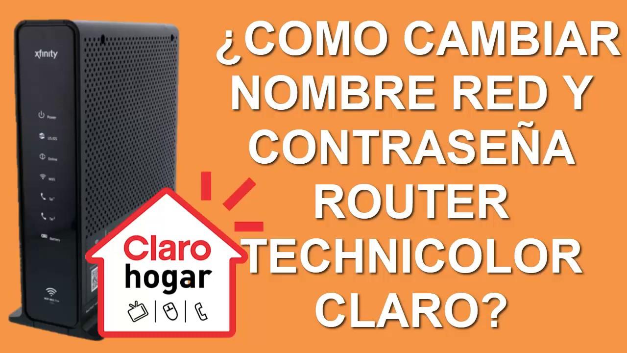 Como Cambiar Nombre Red Y Contrasena Router Technicolor Claro Y Saber Quien Te Roba Internet Youtube