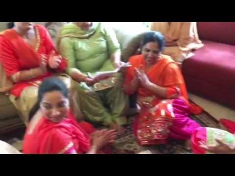 Punjabi Kuri 1st Lady sangeet