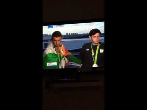Ireland's Rio Olympic Silver Medalists Gary and Paul O'Donovan strike again on the 9'oclock news