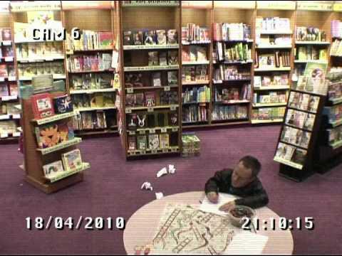 Warwick Davis Locked in a Book Shop