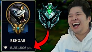 I spectated a 5,300,000 MASTERY POINTS PLATINUM 1 RENGAR and this is how he plays Rengar