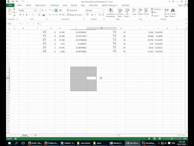 Importing GPS Coordinates from Excel into Arcgis