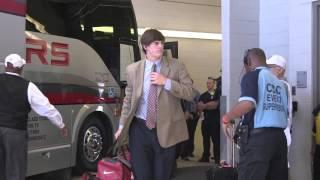 Alabama arrives at Kyle Field in a businesslike manner