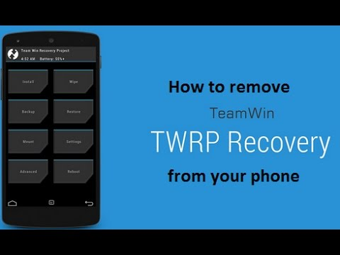 How to remove TWRP recovery