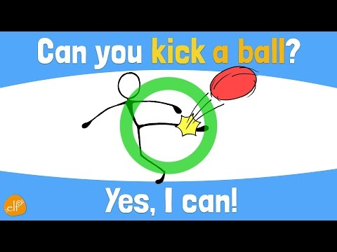 Verb Chant and Pattern Practice for Kids: Part 2 (Can You ~?) by ELF Learning - ELF Kids Videos