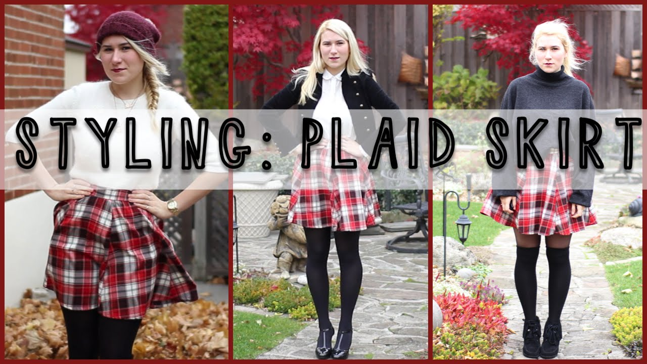 How To Style Plaid Tartan Skirts