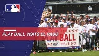 Jayla Montgomery teaches baseball basics in El Paso