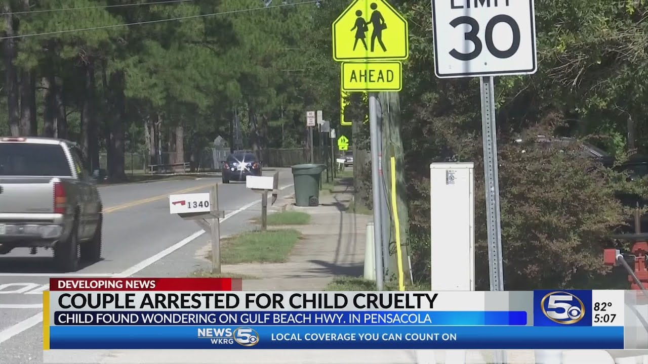 Northwest Florida couple faces child cruelty charges after a child was  found wandering in traffic