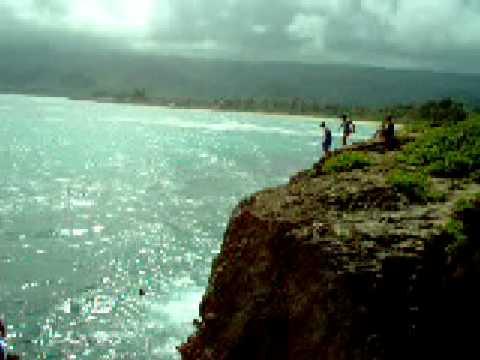 Beautiful Laie Lady Raiders Cliff Jumping Hawaii