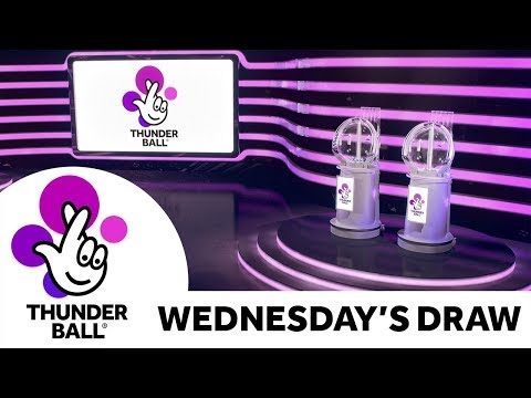 The National Lottery 'Thunderball' Draw Results From Wednesday 4th December 2019