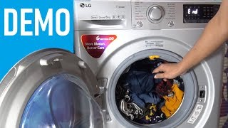 Lg Front Load Washing Machine Fht1208swl - Demo