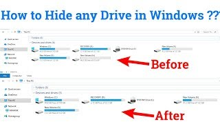 How to Hide any drive in Windows ? || GeeksPort