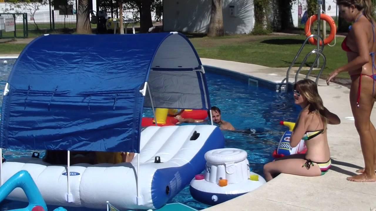 Colchoneta hinchable piscina con y la sexta for Colchonetas piscina