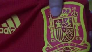 2018 World Cup Spain home player version jersey