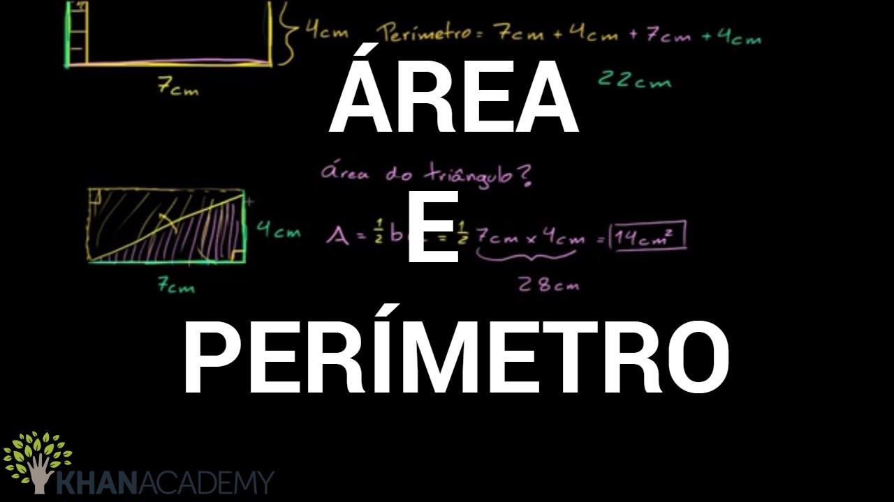 Video aula de Área e Perímetro | Geometria | Khan Academy