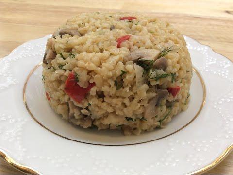 TURKISH BULGUR PILAF WITH MUSHROOM - LOW GI, So Yummy And Nutritious!