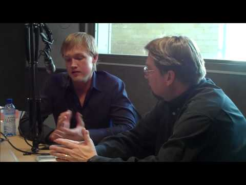 Bob Pickett visits with Blaine Larson