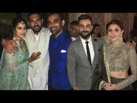 Zaheer Khan & Sagarika's Wedding Reception Party 2017 Full Video HD-Virat,Anushka,Yuvraj,Sachin