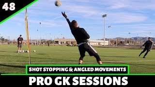 Shot Stopping, Angled Movements & Distribution | Goalkeeper Training | Pro Gk Sessions