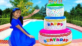 Wendy Pretend Play Pastel de Cumpleaños de Juguete |Giant Happy Birthday Cake