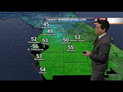 ABC Action Weather Forecast for Tampa Bay, Tuesday Nov. 24