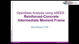 eSEES for OpenSees:  RC Intermediate Moment Frame