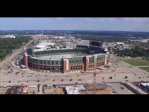 Lambeau Field Area Flight (Drone) Green Bay Packers