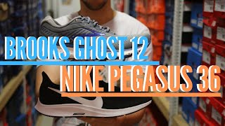 Nike Pegasus 36 vs Brooks Ghost 12