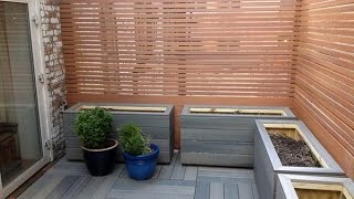 Planter box brackets for composite decking