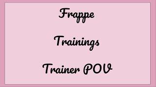 Frappe Entrenamientos #1 ROBLOX Entrenador POV