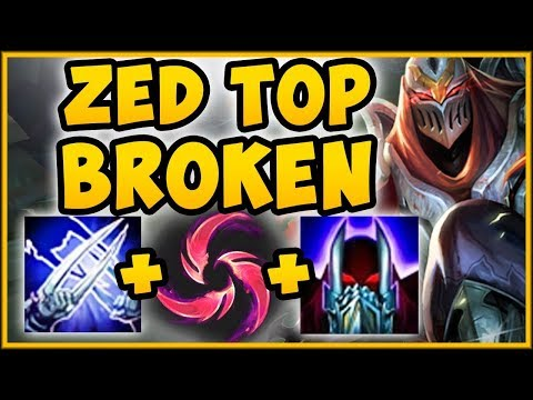 WTF! BURST DMG FROM HAIL OF BLADES ZED IS 100% NUTTY! ZED SEASON 9 TOP GAMEPLAY! - League Of Legends