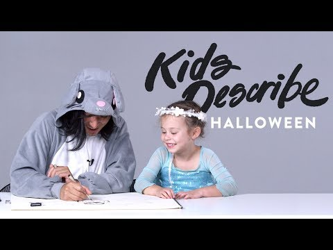 Kids Describe Halloween to Koji the Illustrator | Kids Describe | HiHo Kids