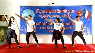 Mai Nache Cham Chamti Dance (Nepathya) Nepali New Year 2073 Celebration Programme Paris, FRANCE