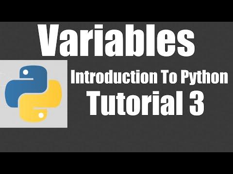 Variables - Python: Tutorial 3 thumbnail