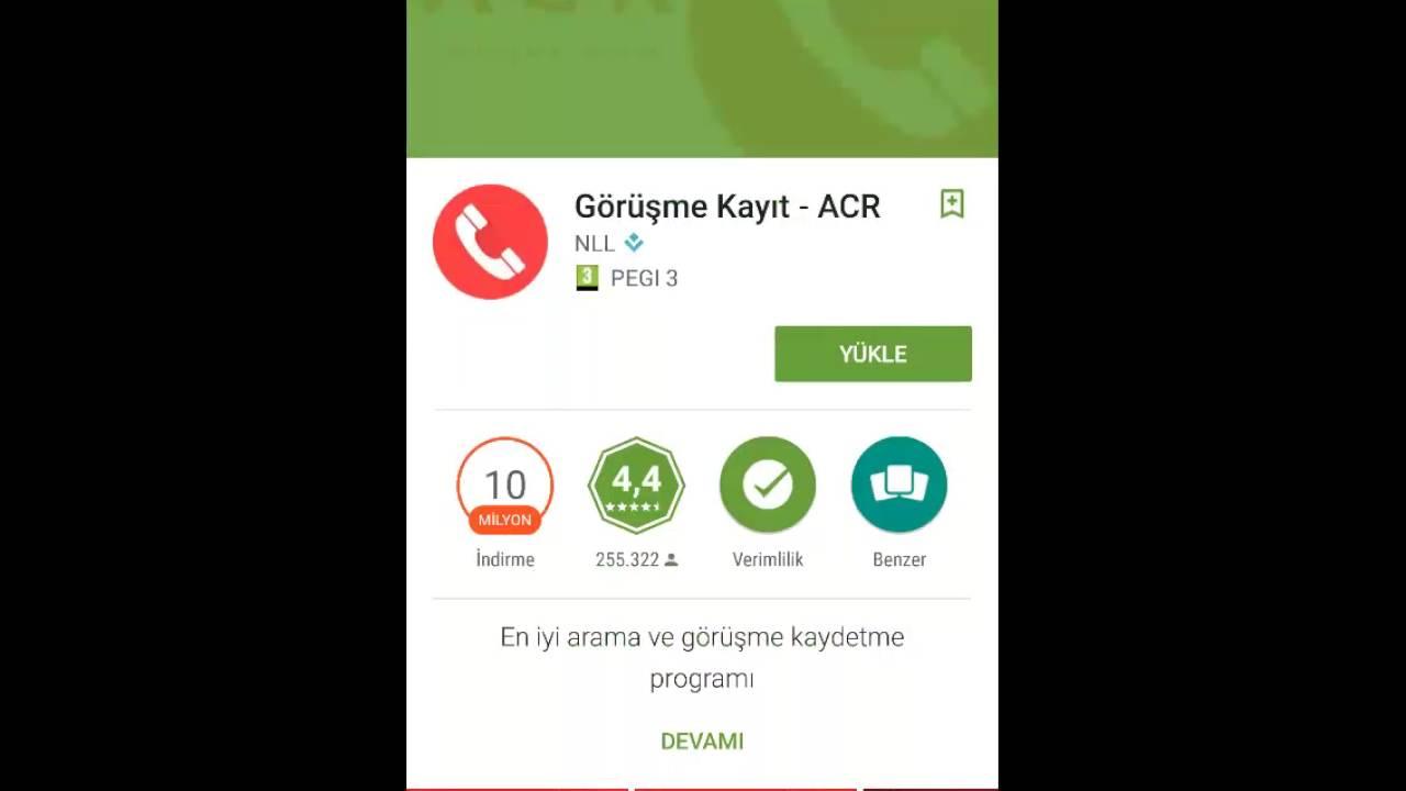 telefon görüşme kayıt programı android