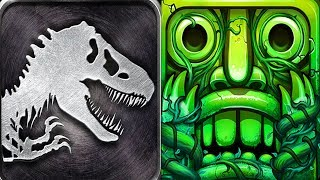 Jurassic Park Builder VS Temple Run 2 Android Gameplay
