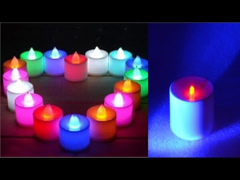 Christmas Led Candles:- How To Make Christmas Led Tea Candles At Home || Smokeless And Flame-less