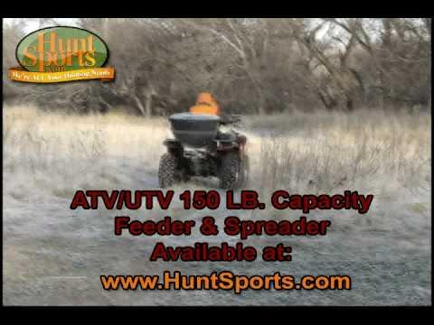Adjustable Hitch Receiver >> ATV / UTV Auger Drive Road Feeder Spreader Foodplot Implement Seeder - YouTube