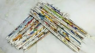 DIY NEWSPAPER CRAFT/BEST OUT OF WASTE CRAFT IDEAS
