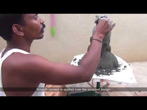 Traditional Cement Sculpting - Madurai, Tamilnadu