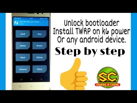 How to unlock bootloader and install Twrp on lenovo k6 power or any other  android device | Hindi |