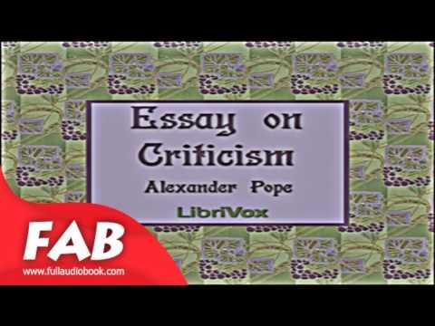 An essay on criticism alexander pope