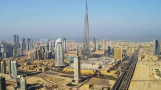 aerial view burj khalifa downtown dubai ey8mxuwa