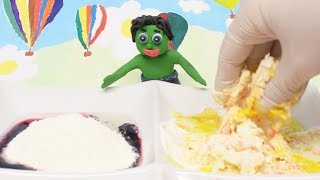 HOW TO MAKE PLAY DOUGH RECIPE! In Green Baby Cartoons #101