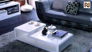 Modern White Lacquer Coffee Table Vgzh5011c