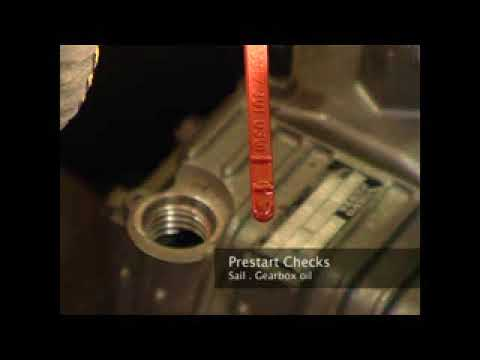 Gearbox oil level check  | Sea Start