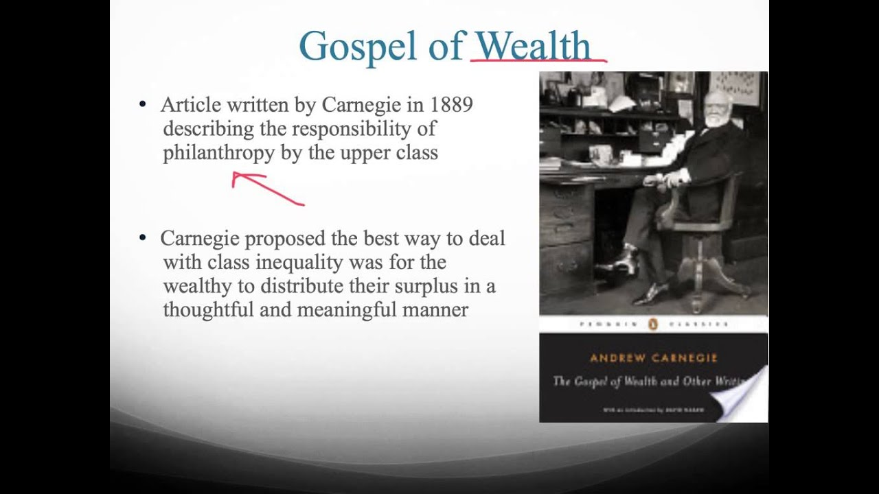 """carnegies idea on wealth distribution But the logic of wealth has social capital — how we deal with the impact of wealth and its distribution across society — needs to be big idea: """"the age."""