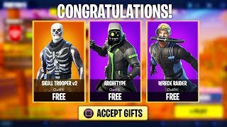 How to Get FREE SKINS in Fortnite! (Fortnite Gifting System)