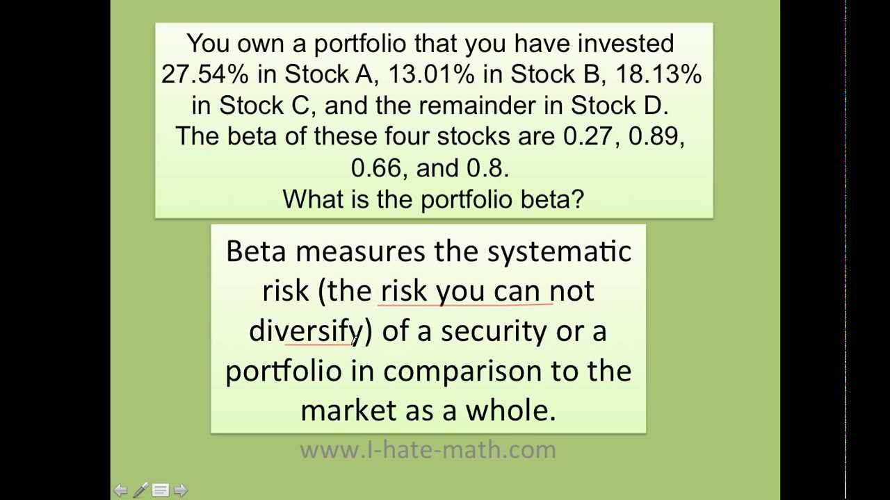 How To Calculate The Portfolio Beta ( Fast And Easy ) :)